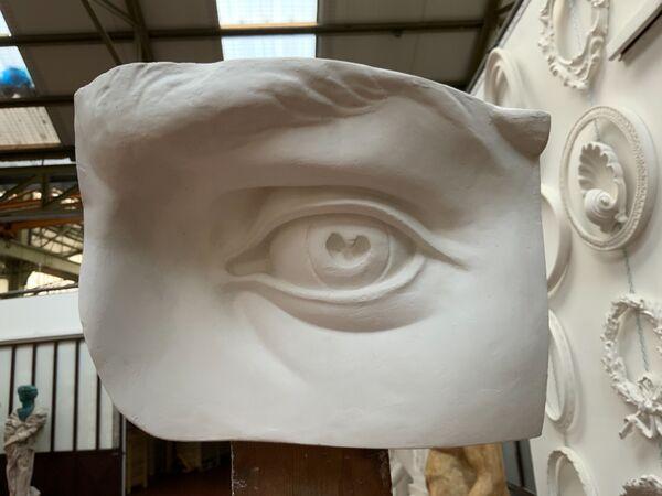 A102 Occhio sinistro dalla testa del David