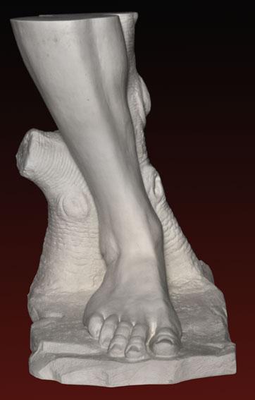 A095 Piede destro del Davide di Michelangelo