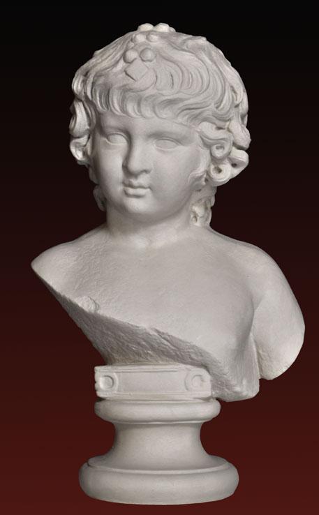 B244 Bimba part. di figura con peplo Ninfeo di Baia Napoli epoca Claudia
