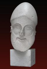 B261 Guerriero Morente con elmo tempio di Egina Glyptothek Monaco 44x15x31