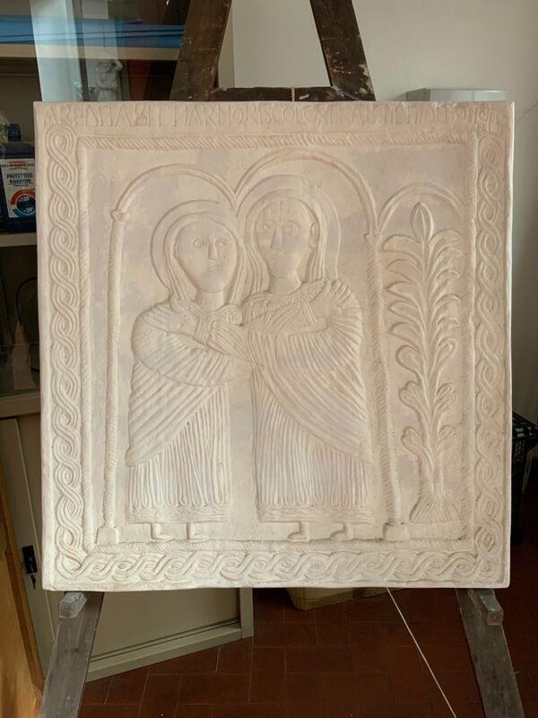 Visitazione di Maria ad Elisabetta- Parte dell'altare di Ratchis VIII secolo