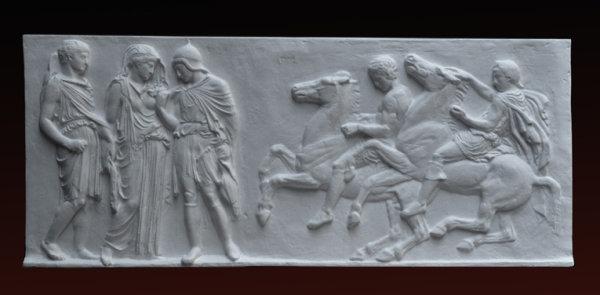 R026 Orfeo, Euridice, metopa con cavalli