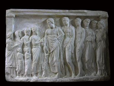 R341 Rilievo votivo ad Asclepio