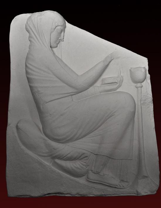 R433 Musa che brucia l'incenso -Trono Ludovisi