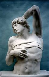 S089 Schiavo morente torso Michelangelo Louvre Parigi