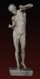S226 Ragazzo in movimento- nudo C.Reduzzi (1857-1911)