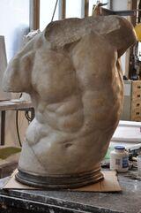 Torso Gaddi colorato-fronte - finto marmo