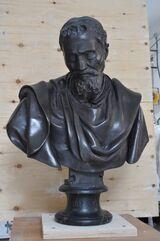 Busto colore bronzo di Michelangelo Buonarroti