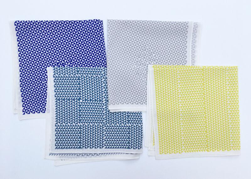 Silk scarves, 2013, digital print on silk, 35x35cm each