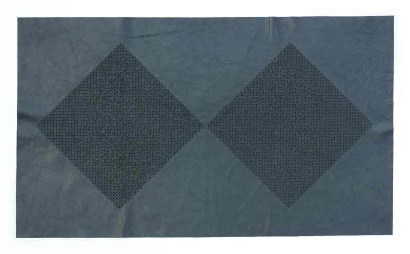 Skin I, 2014, laser engraving on leather, 45.5x77cm, unique work
