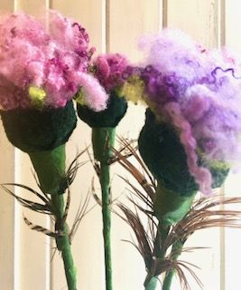 Felted Thistles