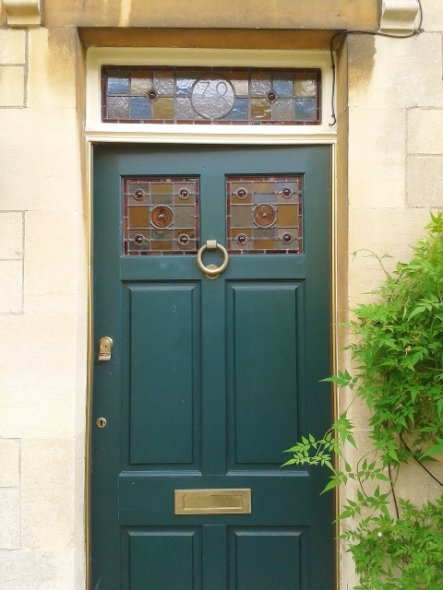 Traditonal Front Door Stained Glass Panels, Corsham