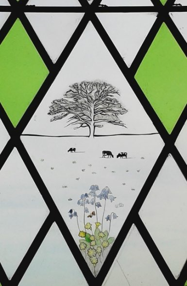 Painted and Enamelled Rural Scene