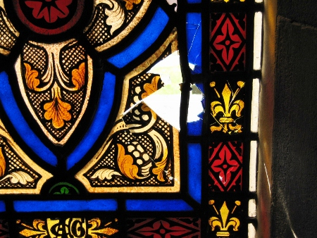 Damaged Stained Glass