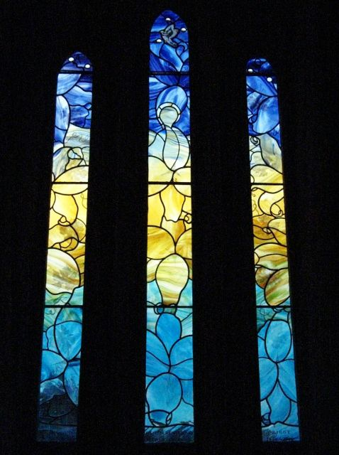 """Lily""  Stained Glass Window, Hullavington"