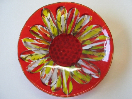 Wheatburst Fused Glass Bowl