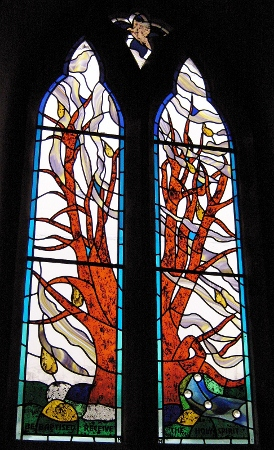 Pentecost Stained Glass Window, Corston, Wiltshire