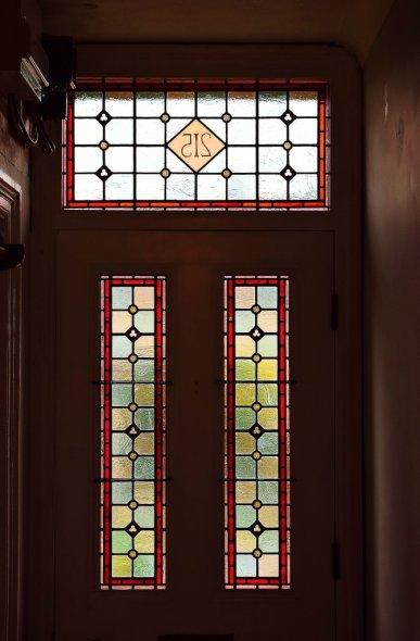 """""""Bee"""" Stained Glass Door Panels"""