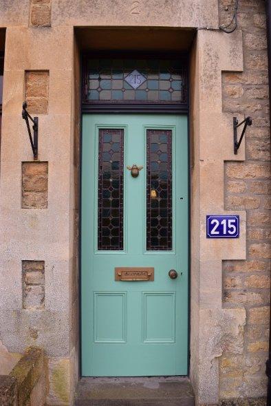 """Bee"" Front Door Stained Glass"