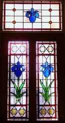 """""""Iris"""" Victorian-Style Stained Glass"""