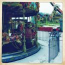 Funfair in snow