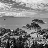 caernarfon bay from llanddwyn Island, mono