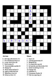 Birthday Crossword