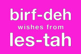 birf-dah Card (pink)