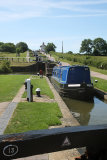 Halfway through Foxton Locks