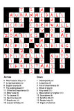 Christmas Crossword (Answers Only)