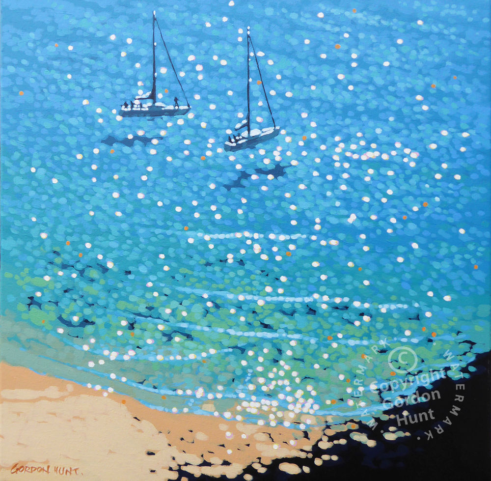 32. Up anchor. Gordon Hunt. Impressionist style. Limited edition print.