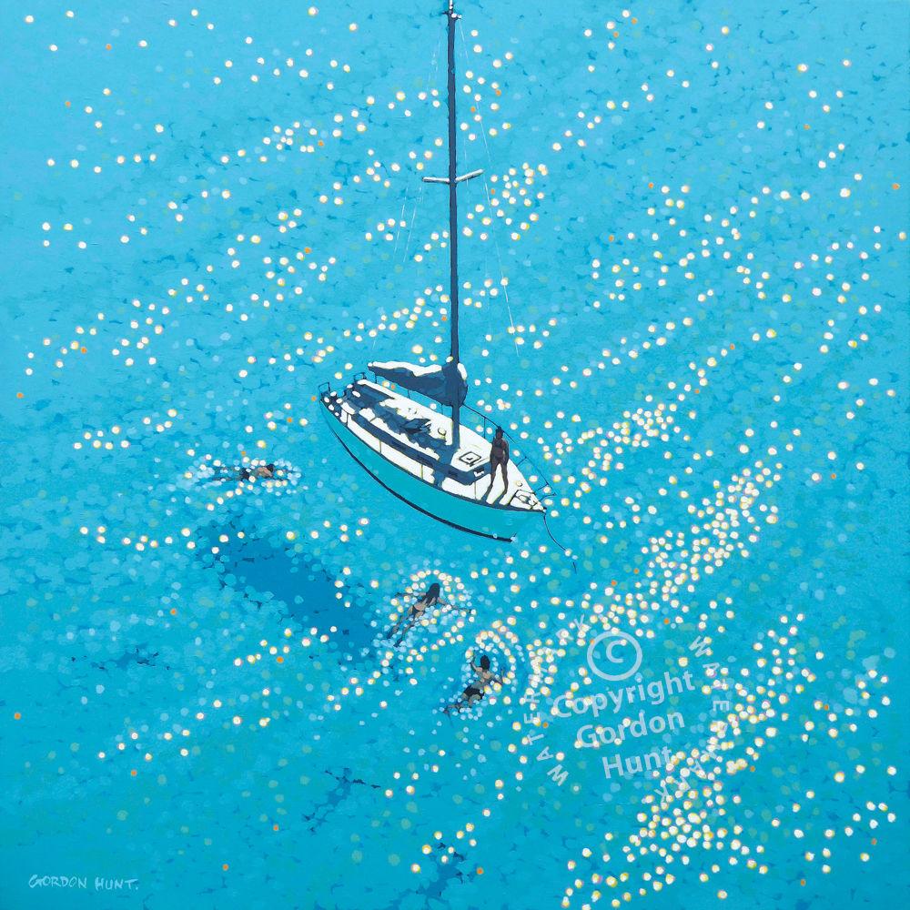 37. swim stop. Gordon hunt. Limited edition print