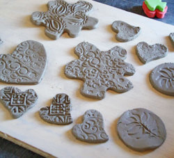 Creative ceramic button making