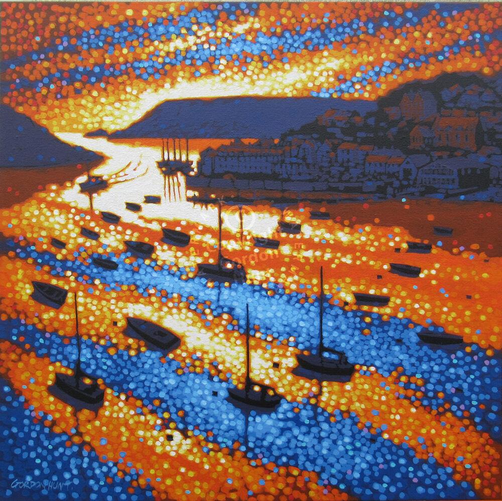 Salcombe sunset, Devon. Gordon Hunt. 60 x 60cm £680.00.