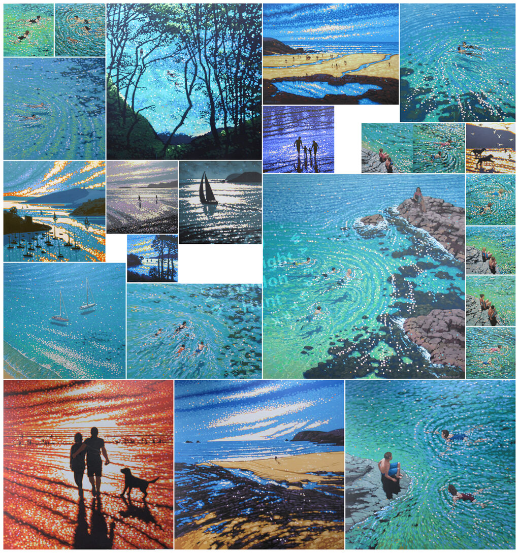 Montage of commissioned paintings