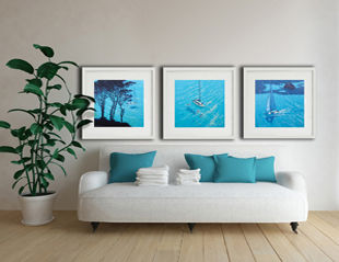 Framed paper prints