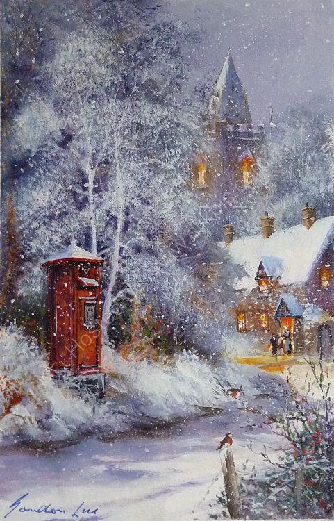A Christmas Post Box