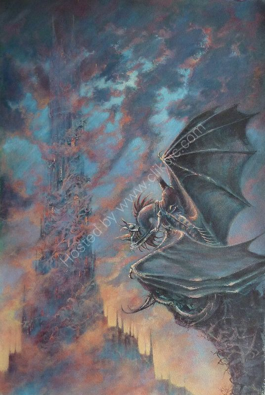 After John Howe - The Nazgul & Bara-dur