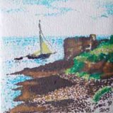 "SOLD Sailing by Pendennis castle, ""Little Dennis"""