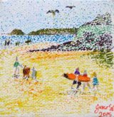SOLD Perranporth beach scene