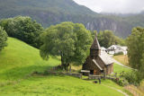 Hayangerfford church, Haulhous wooden church, originally medieval near Bergen Norway.
