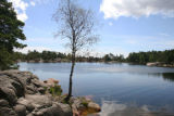 Lake in national park in Kristiansand, Norway