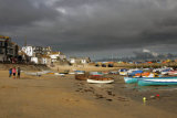 Approaching storm for St Ives harbour