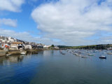 Boats moored in Falmouth harbour