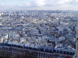 Paris skyline on late autumn sunny day