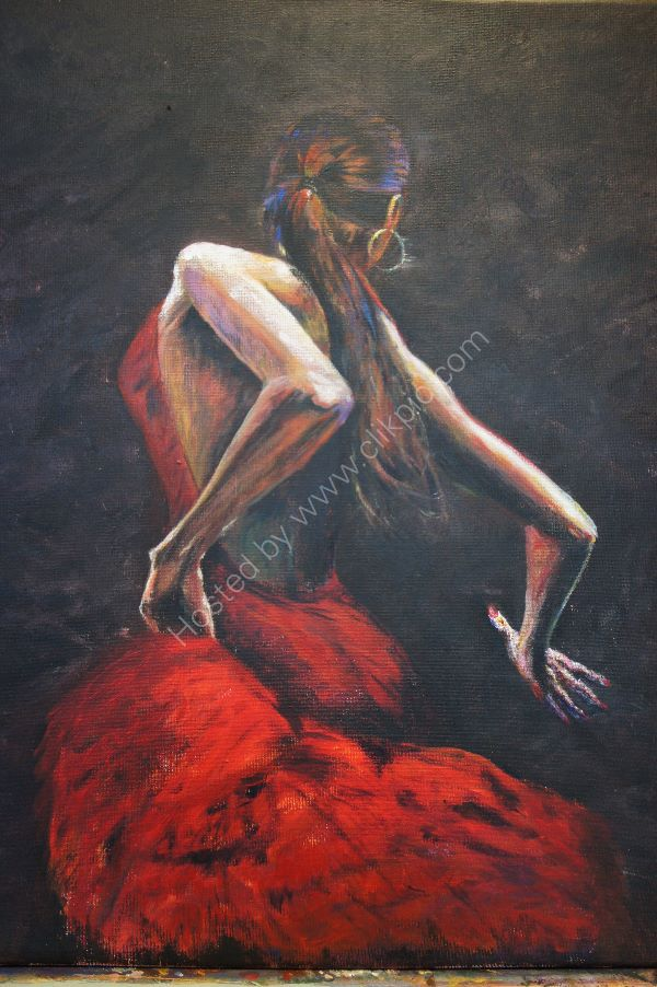 Dancer based on painting by Fabian Perez  **SOLD**
