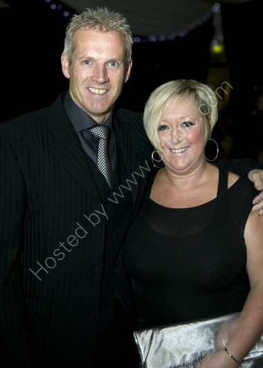 Peter Moores with wife Karen Moores