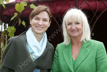 Fiona Bruce and Jan Howard