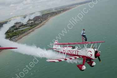 Jan Leeming Wing Walk at Shoreham Airport