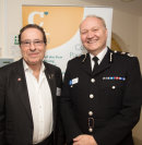 Peter James with Sussex Chief Constable Giles York